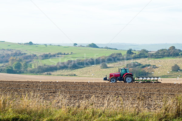 Tractor Ploughing Field Stock photo © suerob