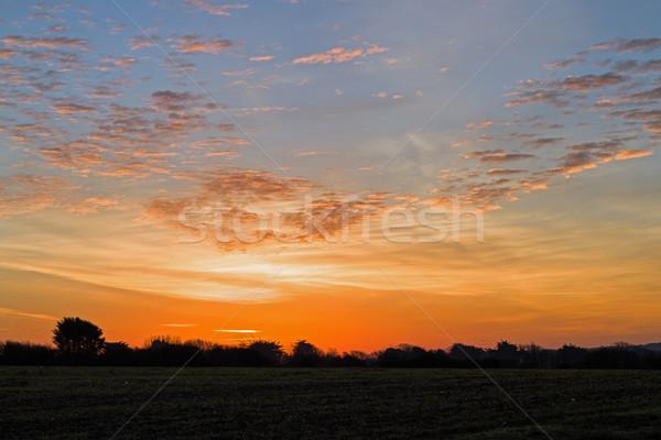 рассвета небе Суссексе облака зима синий Сток-фото © suerob