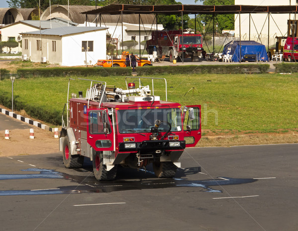 Fire Truck at Banjul Airport Stock photo © suerob