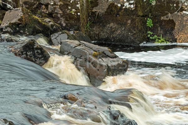 Rivière eau nature pluie pouvoir Photo stock © suerob