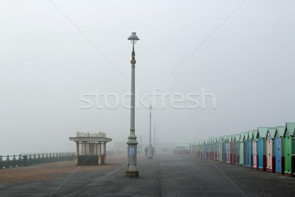 Promenade brouillard brumeux jour froid brouillard Photo stock © suerob