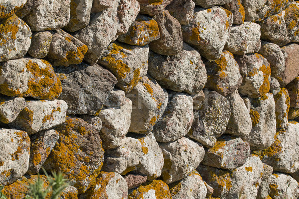 Mur sécher mur de pierre grec île Photo stock © suerob