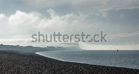 Tête nuage lumière du soleil faible ciel herbe Photo stock © suerob