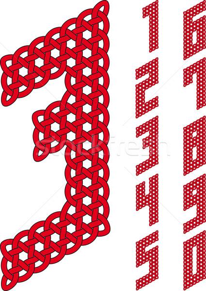 Nudo números trabajo resumen diseno objeto Foto stock © Suljo