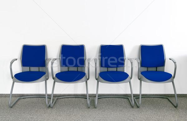 待合室 4 青 チェア 単純な 空っぽ ストックフォト © Suljo