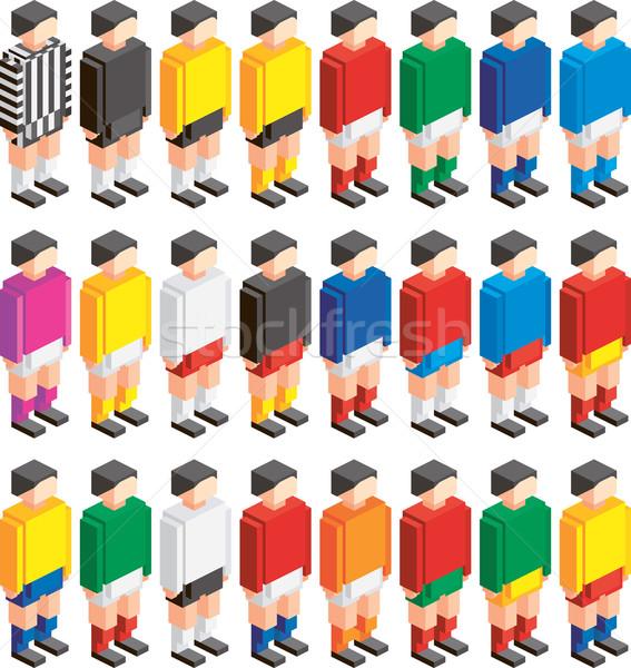 Simple Isometric Players Stock photo © Suljo