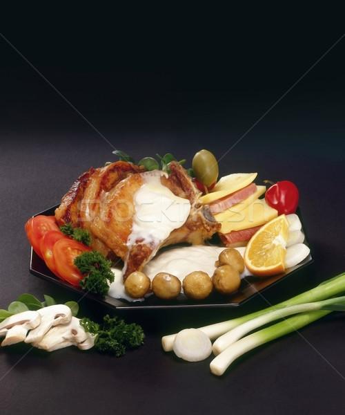 Befsztyk menu bogate żywności restauracji jedzenie Zdjęcia stock © Suljo