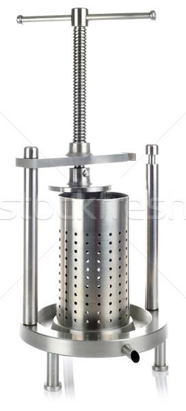 ステンレス鋼 金属 キーを押します カットアウト 孤立した 白 ストックフォト © Suljo