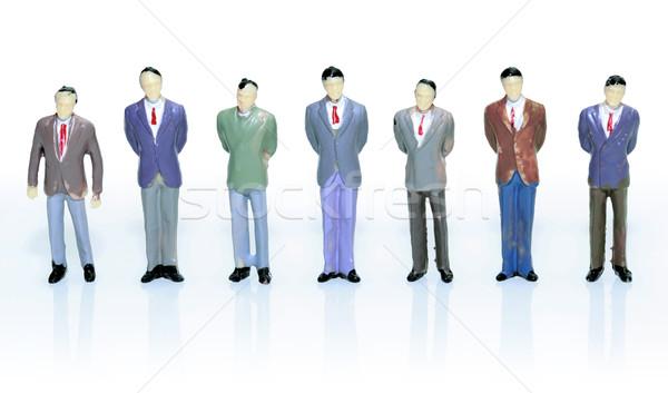 Assistent team teamwerk beeldje geïsoleerd witte Stockfoto © Suljo