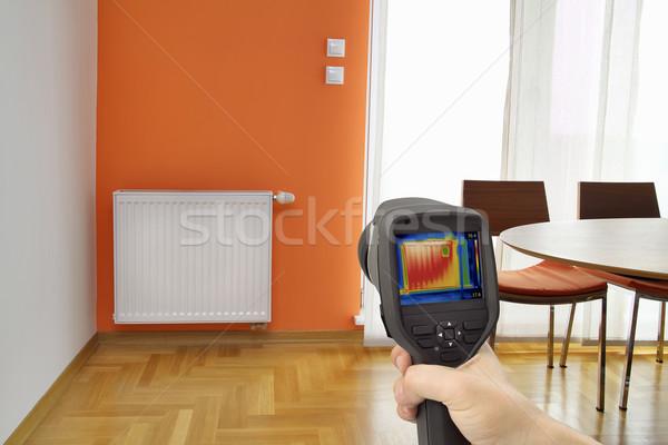 Radiatore immagine calore perdita centrale Foto d'archivio © Suljo