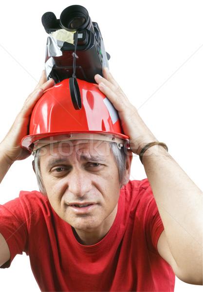 Cameraman Headache Stock photo © Suljo