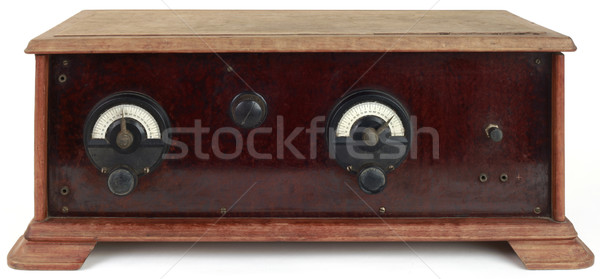 Wooden Radio Cutout Stock photo © Suljo