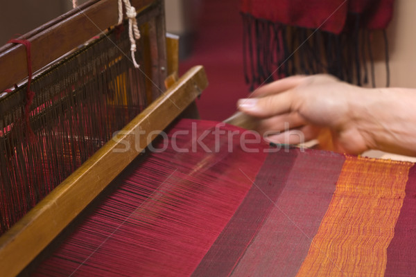 Old Loom weaving Stock photo © Suljo