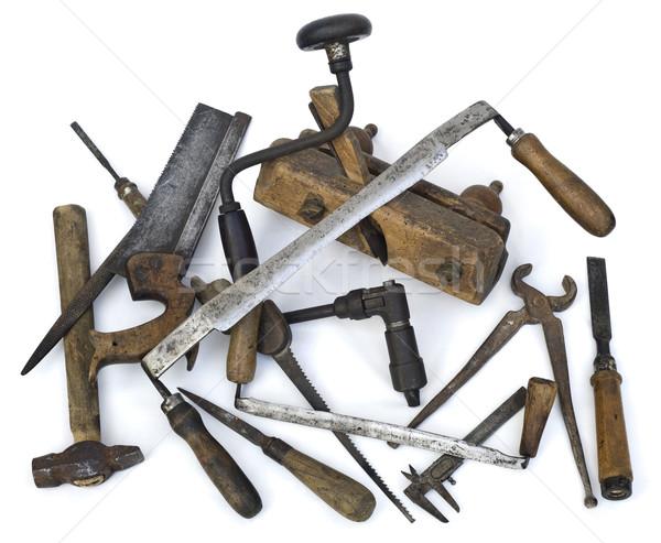 Old Carpenter Tools Stock photo © Suljo