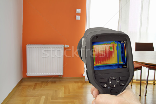 Radiator Thermal Image Stock photo © Suljo