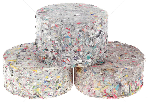 Paper Log Briquettes Cutout Stock photo © Suljo