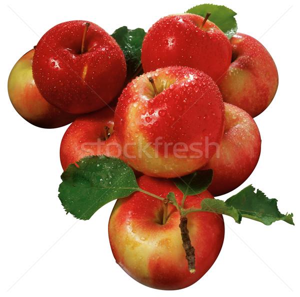 Stock fotó: Almák · csoport · kivágás · vágási · körvonal · háttér · piros