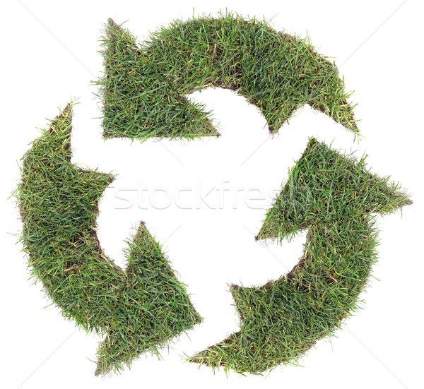 Recycling Symbol Cut Out Stock photo © Suljo