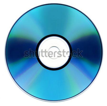 Kék lemez izolált fehér film videó Stock fotó © Suljo