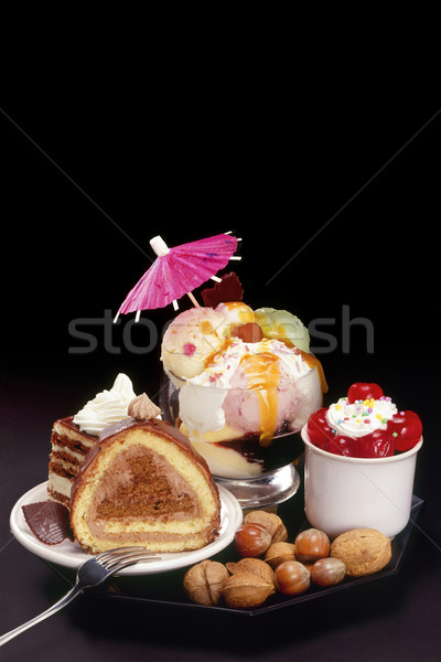 Cakes and ice-cream Stock photo © Suljo