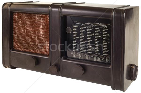Edad radio aparato aislado Foto stock © Suljo