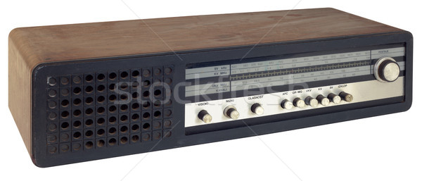 Vieux radio isolé musique Photo stock © Suljo