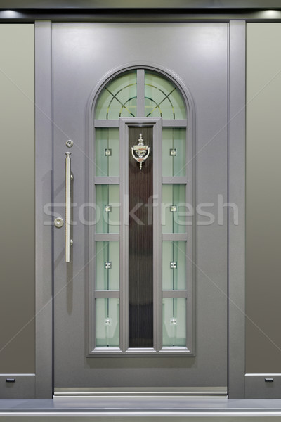 Metallic Massive Door Stock photo © Suljo