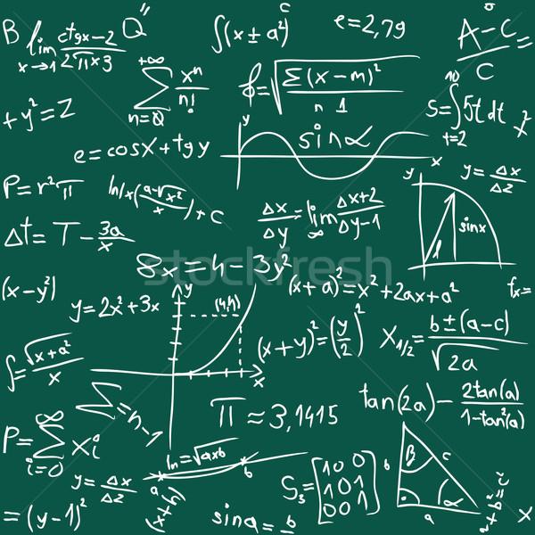 Math senza soluzione di continuità segno scienza lavagna disegno Foto d'archivio © Suljo