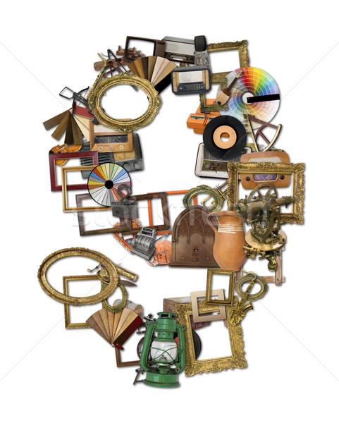 Retro Tools Typeset Stock photo © Suljo