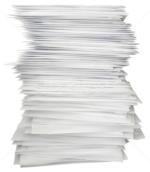 Stock photo: Stack of letters