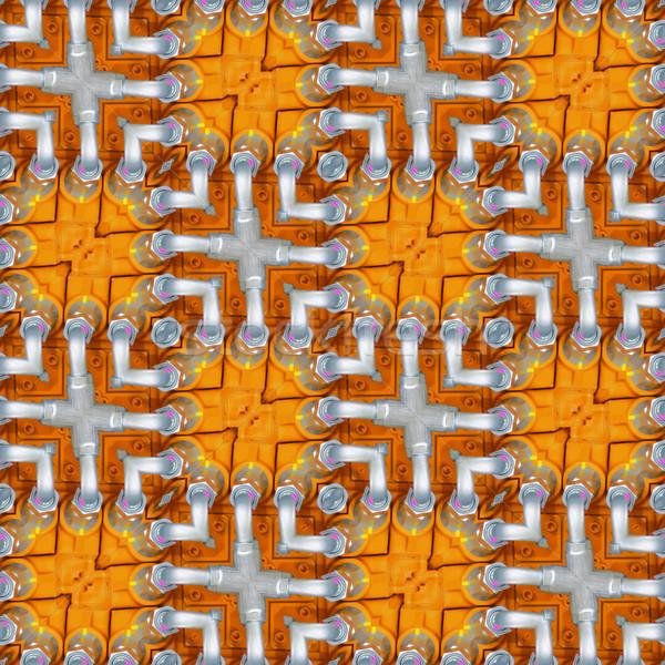 гидравлический бесшовный текстуры шаблон трубы Сток-фото © Suljo