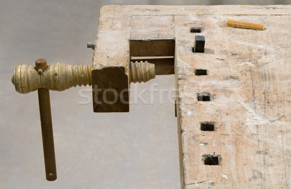 Old Carpenter Bench Stock photo © Suljo