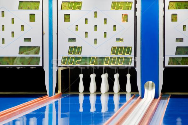 Yeni bowling spor zemin temizlemek Stok fotoğraf © Suljo