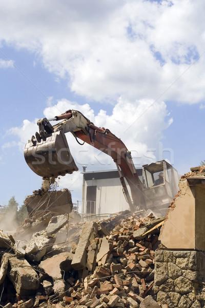 Escavadeira edifício construção areia indústria industrial Foto stock © Suljo