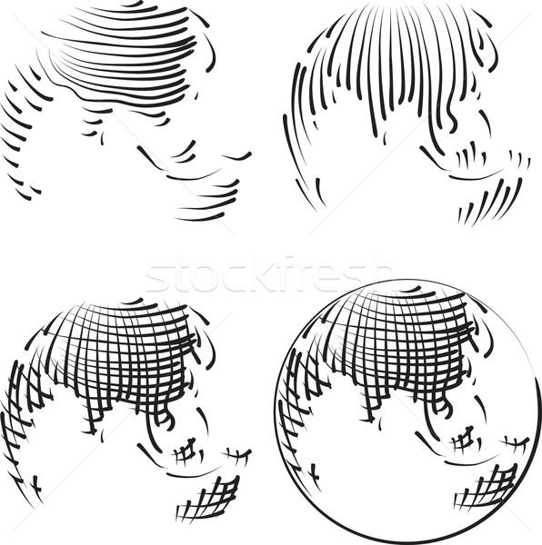 Simple World Engraving Stock photo © Suljo