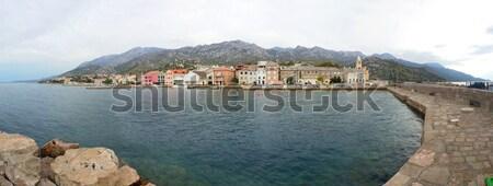 панорамный мнение города Хорватия Панорама осень Сток-фото © Suljo