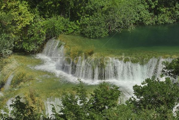 Rivier watervallen park water natuur landschap Stockfoto © Suljo