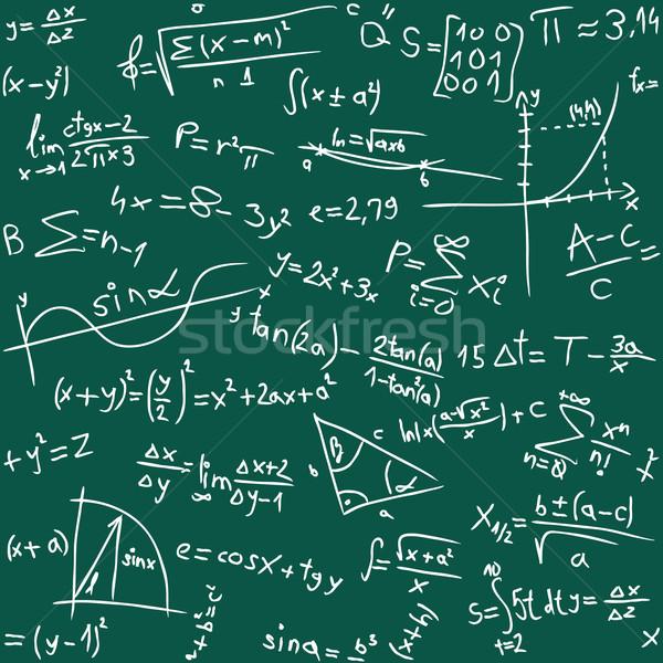 Math naadloos ontwerp wetenschap Blackboard tekening Stockfoto © Suljo