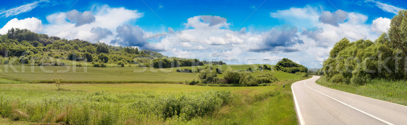 Country Road Panorama Stock photo © Suljo
