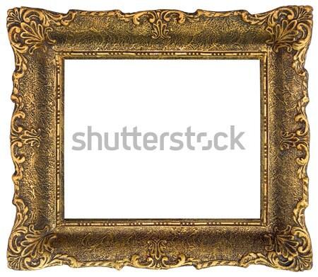 Altın resim çerçevesi yalıtılmış mobilya Stok fotoğraf © Suljo