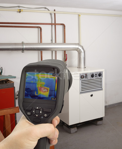 Gas Furnace Thermal Image Stock photo © Suljo