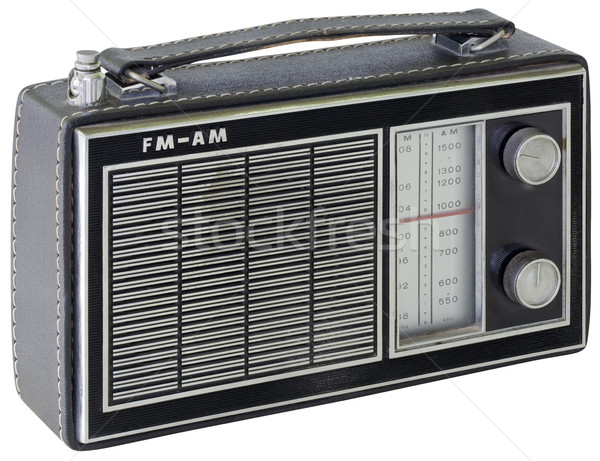Black Portable Radio Cutout Stock photo © Suljo