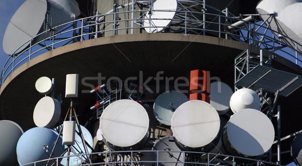 衛星 フルフレーム 通信 料理 テレビ 技術 ストックフォト © Suljo
