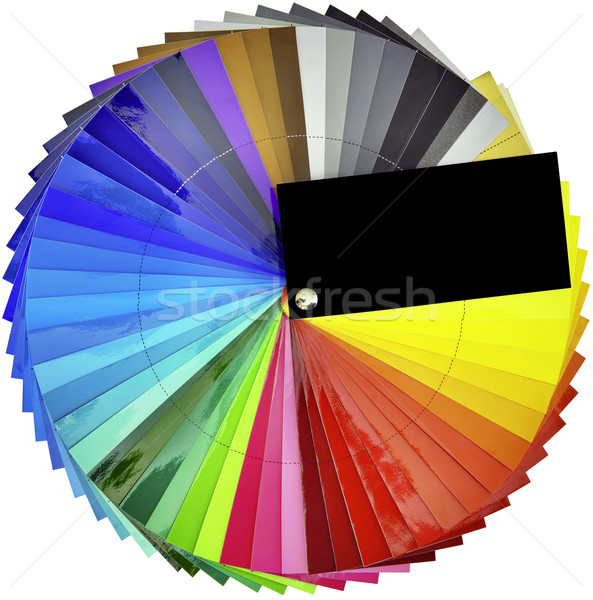 Stock photo: Color swatch sampler