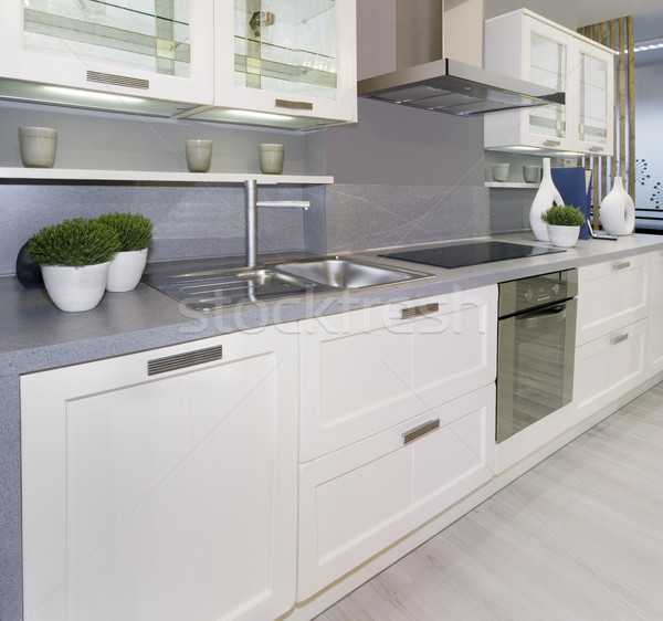White kitchen Stock photo © Suljo