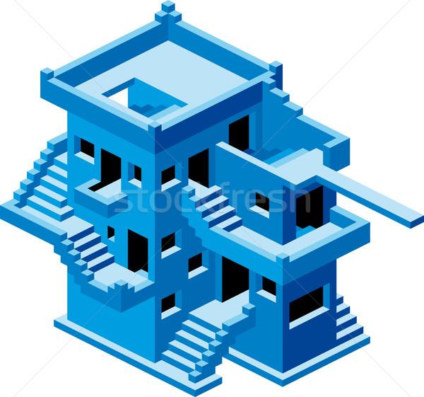 Abstract House Vector Stock photo © Suljo