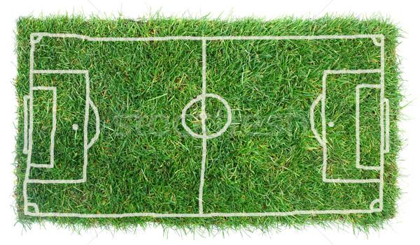 болван футбольное поле изолированный белый трава Футбол Сток-фото © Suljo