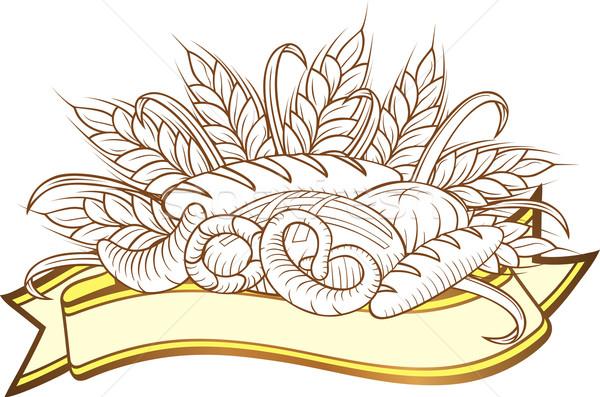 Bread engravings Stock photo © Suljo