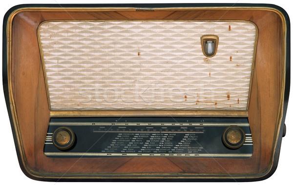 Vieux radio isolé rétro Photo stock © Suljo