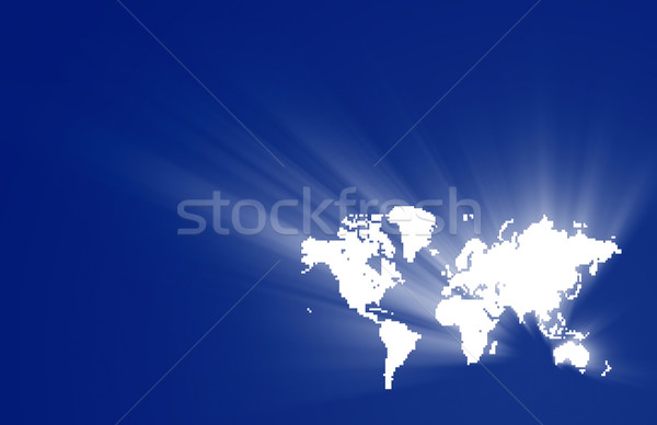 Pixel world Stock photo © Suljo
